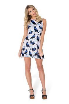 Bowerbird White Play Dress (USA LIMITED/WORLDWIDE 48HR) by Black Milk Clothing $85AUD ($80USD)