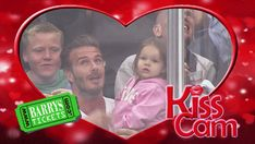 David Beckham and daughter Harper were caught on the Kiss Cam at the Los Angeles Kings Game on May 28.