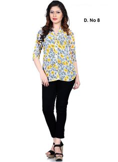 Buy This Cutemad Printed Off White Georgette Designer Western Top Online Shopping Tops Online Shopping, Western Tops, Kurti Collection, Western Outfits, Casual Street Style, Daily Wear, Stylish, Blouse, How To Wear