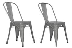 Dorel Home Furnishings Nova Silver Metal Mesh Dining Chair, Set of 2