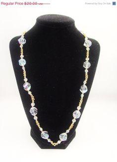 Vintage Crystal Aurora Borealis Crystal Rhinestone by VintageGemz, $18.00