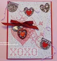 Handmade card, Craft Fantastic, charms, jewelry, copic marker, Reverse Confetti, die cuts, love, Stampin Up, Penny Black, Valentines, love, Birthday, or Anniversary ideas. See tutorial here: http://mykraftkloset.blogspot.com/ - my kraft kloset