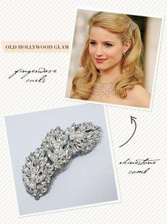 Old Hollywood Glam wedding hair idea (half down)