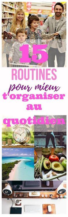 15 routines pour mieux t'organiser #bulletjournal #bujo #enfants #gestion #organisation #menus #routine #beauté #fitness #routines enfants pictogramme #routines de mise en forme #routines beauté #routines coucher