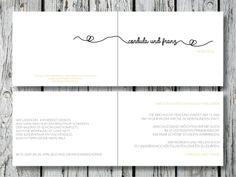 Individuelle+Hochzeitseinladung+|+Endless+Love+von+for+magic+moments+auf+DaWanda.com