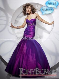 Wholesale Purple Taffeta Pageant Dresses Sweetheart Mermaid/Trumpet Prom Ball Evening Formal Gowns, Free shipping, $118.72-141.12/Piece | DHgate