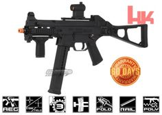 Order the Umarex H&K UMP Sportline from Airsoft GI if you're looking for standout airsoft SMG performance in an affordable package. This officially licensed HK AEG replica will have you putting the heat on in any game. New Power Rangers, Muzzle Velocity, Red Dot Sight, Airsoft Guns, Paintball, This Or That Questions, Black, Indoor Games, Ebay