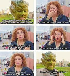 I love how every DW special feature has one of the actors complaining about Alex Kingston slapping them, haha!