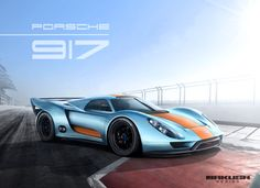 Porsche 917 Concept by Tamás Jakus, via Behance