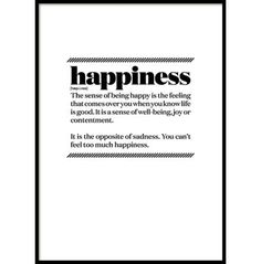 HAPPINESS, POSTER