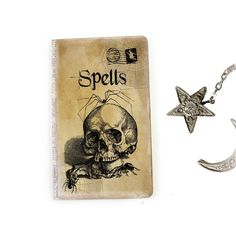 Skull Journal, Spell Book, Halloween Journal, Witch's Diary, Goth Notebook, Wicca, Spiders, Spooky, Occult Journal, Pagan, Halloween Decor