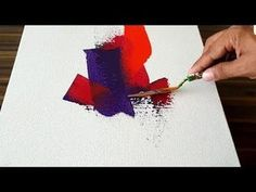 Demonstration of Colorful and Easy Abstract Painting on Canvas in Acryli… Source by cgoldenhersh Easy Canvas Painting, Canvas Painting Landscape, Acrylic Painting Tutorials, Painting Videos, Acrylic Art, Diy Painting, Painting & Drawing, Landscape Art, Easy Abstract Art