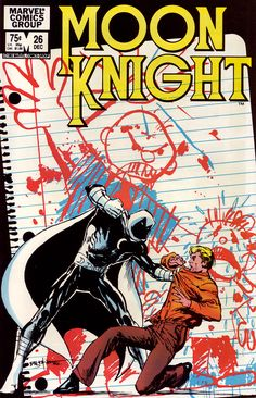 Moon Knight #26 (Marvel 1982) Cover art by Bill Sienkiewicz
