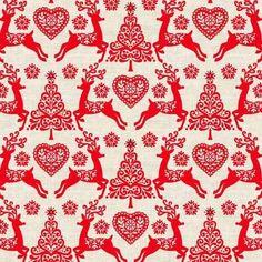 1782 Scandi 4 Fabric Christmas Reindeer Premium Cotton  #makower