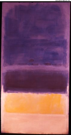 Mark ROTHKO. Untitled. 1950. Oil on canvas. Size in Cm: 206,5 x 108.