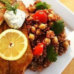 Quinoa with Chickpeas and Tomatoes Allrecipes.com