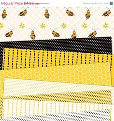 Cool scrapbooking bee paper