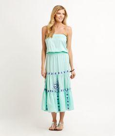 550a001c Shop Mosaic Embroidered Maxi Dress at vineyard vines Preppy Dresses,  Vineyard Vines, Stitch Fix