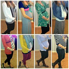 "Just because you're pregnant doesn't mean you can't look cute ""Repin::maternity fashion, maternity style, pregnancy fashion, pregnancy style."""