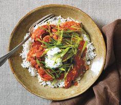 Chicken Tikki Masala with Crispy Snap Peas. Real Simple, Nov, 2014. 14 WW points per serving