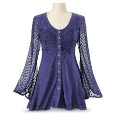 Violette Tunic - Women's Clothing & Symbolic Jewelry – Sexy, Fantasy, Romantic Fashions