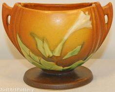 Roseville Pottery Thornapple Brown Bowl 304 from Just Art Pottery