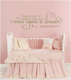 I Know You Walked With Once Upon A By Jaykasdecalboutique Sleeping Beauty Nursery