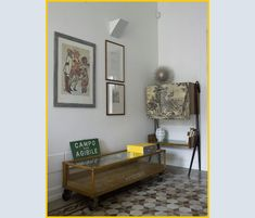 Pour le carrelage / For the tiles Brocante House - Restoration for a collector - Prato, Italy - 2009 - Sabrina Bignami Interior Architecture, Interior Design, Grey Houses, Small Buildings, Living Area, Living Rooms, Interior Inspiration, Kitchen Remodel, Flooring