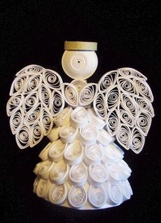 Quilled Angel by Joan Krisher from JoansCrafts via Etsy