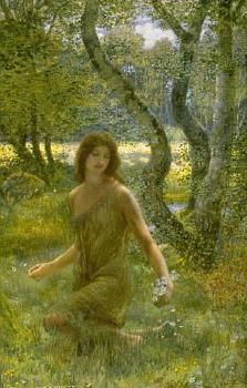 The Grass of Parnassus - By Edward Robert Hughes (1832-1908)