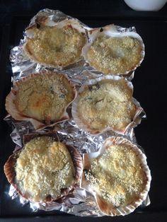 Coquilles st jaques à la bretonne sauce moules et coques
