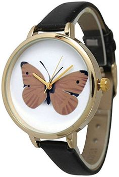 Womens Geneva Slim Butterfly Watch *** For more information, visit image link.(This is an Amazon affiliate link)