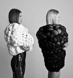 Sculptural 3D fashion with voluminous form & experimental structure; wearable art // Oihana Garaluce