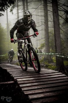 Mountain Biking in woods