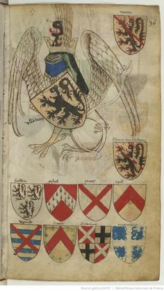 """Gryphon """"supporter"""" behind escutcheon and wearing helm ~A"""