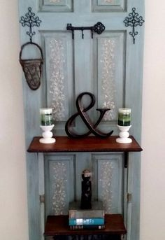 old door transformed to hall tree coat rack , doors, repurposing upcycling