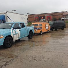 OutCold's Ram 1500, VW Bus and Linda (the Chevy Express Van)
