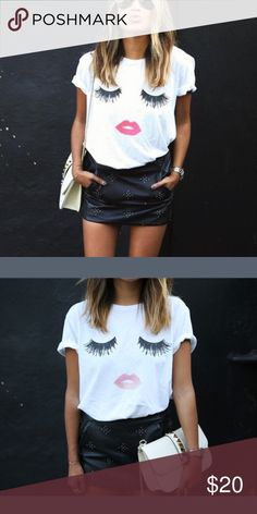 ⚜️Kiss Me T-Shirt ⚜️ This tee is so adorable! Grab it... I only have two! Tops Tees - Short Sleeve
