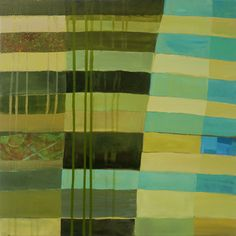 Abstract Canvas Print - Green Stripes 1 by Jane Davies Jane Davies, Architecture Art Design, Abstract Canvas, Abstract Paintings, Elements Of Art, Art Pages, Green Stripes, Artist At Work, Collage Art