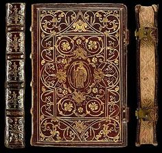 Psalmista Monasticum - Venetiis, 1573 - Decorative Bookbinding in Proto Pointillé & Fanfare styles from the 16th century