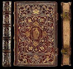 Psalmista Monasticum - Venetiis, 1573 - Decorative Bookbinding in Proto Pointillé & Fanfare styles from the 16th century