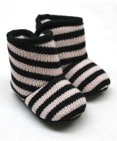 Stripe Knit Booties