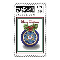 Military Coast Guard Christmas Postage Stamps
