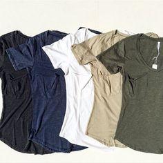 buy online 02294 b615d Back to basics    fully stocked with  zsupply  V-neck pocket tees 👍
