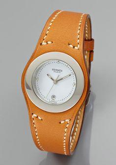 HERMES Ladies Harnais Leather Watch