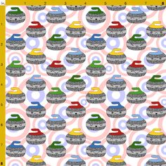 curling fabric by blondfish on Spoonflower - custom fabric Curling Canada, Olympic Curling, Sports Quilts, Canada Images, Sports Wallpapers, Custom Fabric, A Team, Spoonflower, Curls