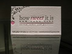 how sweet it is - New York City designed by Dolce Press