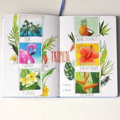 Tropical set #multiliner #copic #sketchbook  #leuchtturm1917 #365