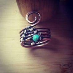 Turchese di banda anello turchese filo di FromRONIKwithLove