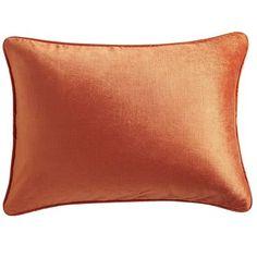 Lumbar Pillow - Papaya Velvet - New at Pier1  Great color $24.95